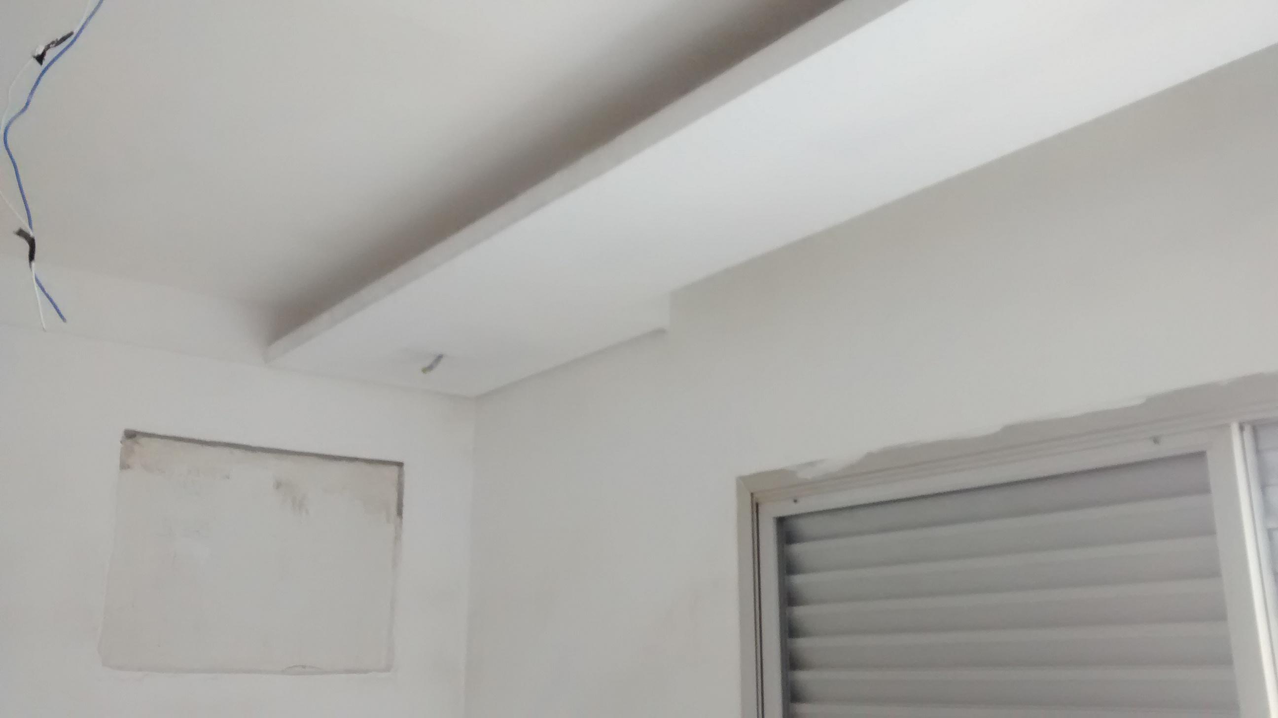 Gesso Sancas e Iluminação DryWall Molduras de Gesso Geso Liso #5B5753 2592 1456
