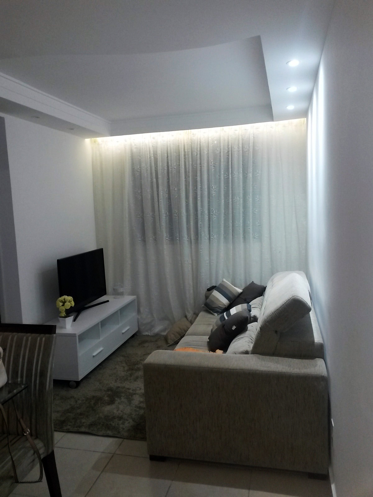Gesso Sancas e Iluminação DryWall Molduras de Gesso Geso Liso #5B6770 1200 1600