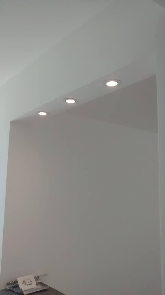 Caixa de dry-Wall para spots balcão americano
