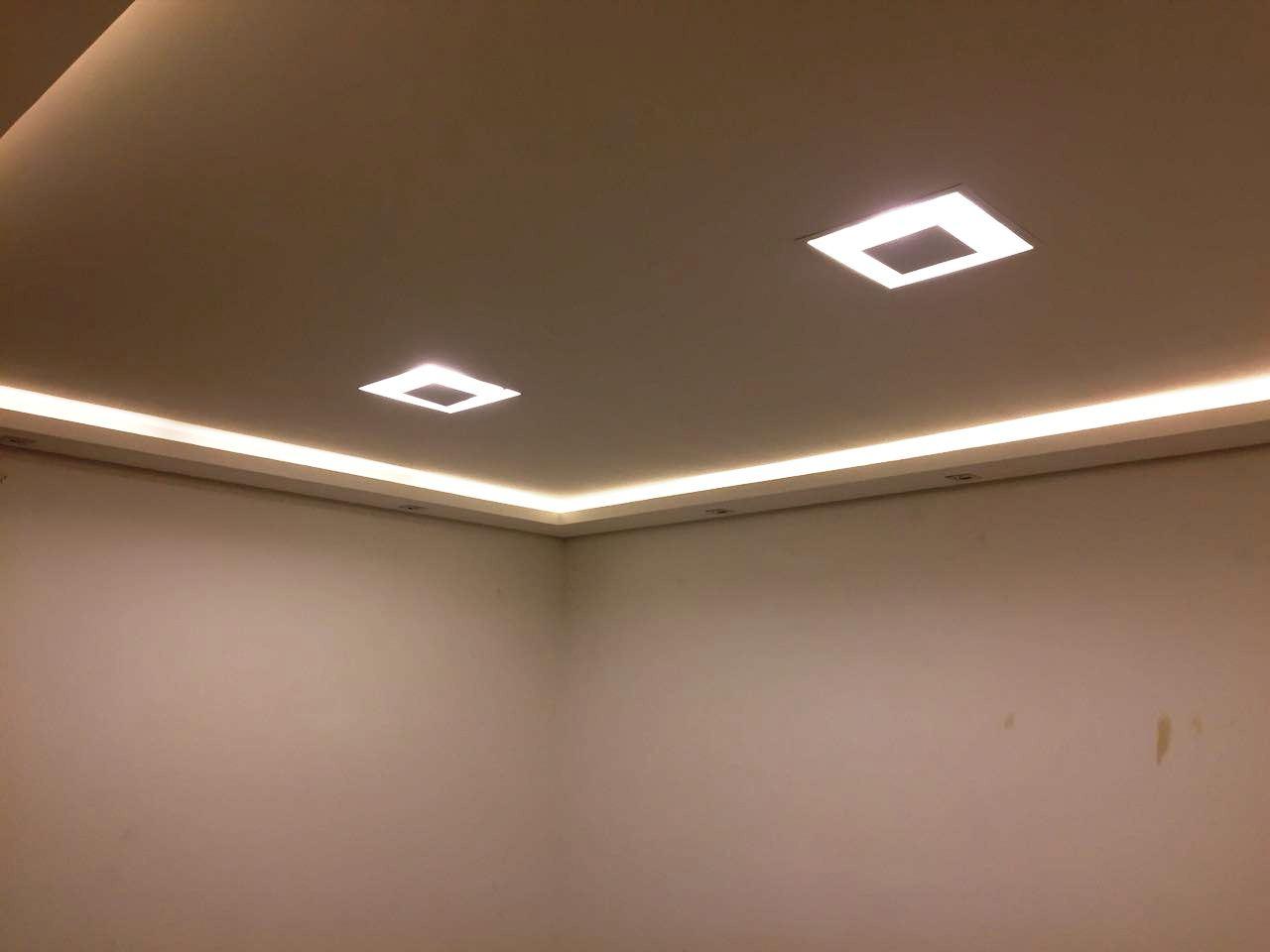 Gesso Campinas Forro De Gesso Sancas E Ilumina O Drywall  -> Sancas De Gesso Para Sala Fotos